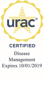 Conifer Health URAC Accreditation Seal for Disease Management