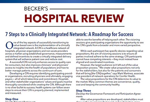 Beckers Article: 7 Steps to a CIN